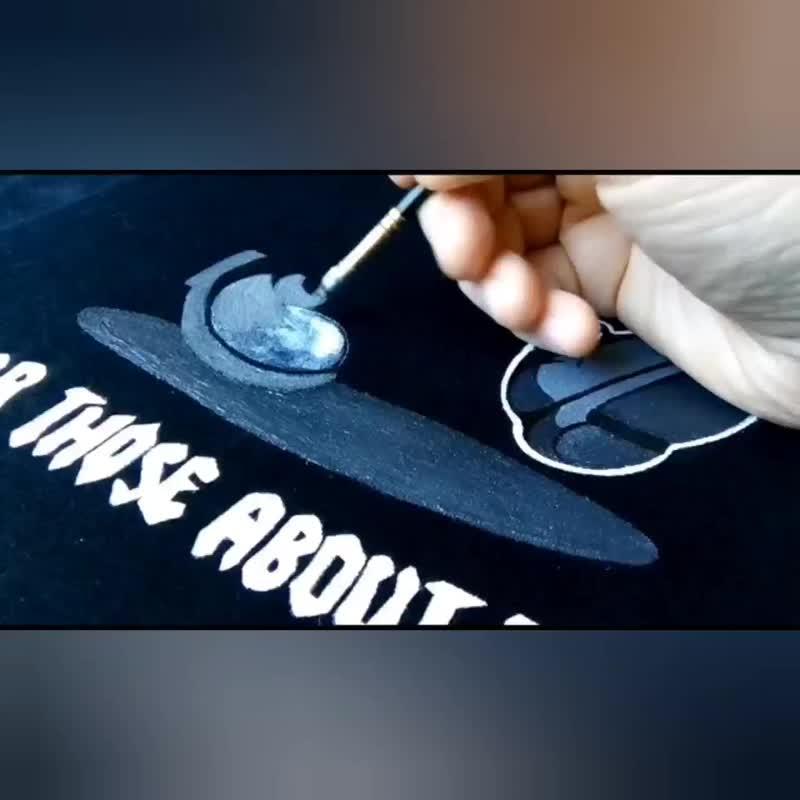 Процесс рисования футболки AC/DC