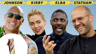 """I'm Black Superman!"": The Rock, Jason Statham, Idris Elba and Vanessa Kirby on Hobbs & Shaw"