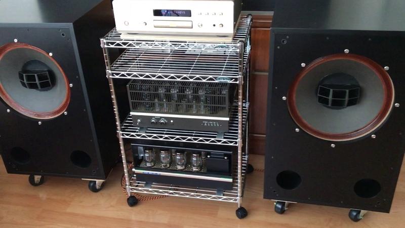 ALTEC 605A Duplex Speaker System , 6336A OTL Amplifier , DENON DVD-5000 DVD CD Player