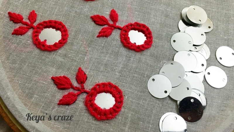 Hand embroidery 2019 All over Mirror Flower Hand embroidery 2019 Keya's Craze