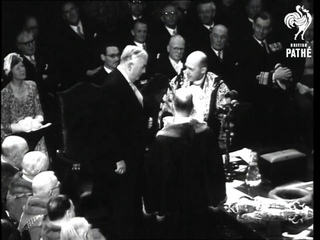 Mr. Menzies Receives The Freedom Of London (1952)