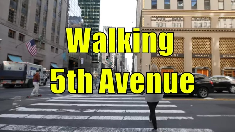 ⁴ᴷ Walking Tour of 5th Avenue NYC from 59th Street to Washington Square Park
