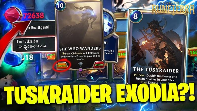 *NEW* TUSKRAIDER EXODIA OTK!! ● Legends of Runeterra Funny Moments ● LoR Highlights Ep.114