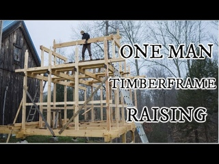 Raising our Japanese timber frame, no machines, just one mans hands, ASMR