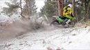 Kawasaki Enduro Driving In Snow
