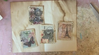 TUTORIAL - Making Faux Postage Stamps - Inspired by Anne-Lise Ryan