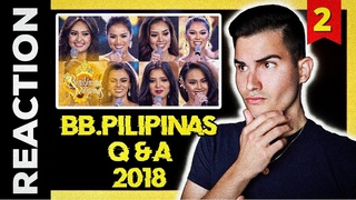 Binibining Pilipinas 2018 Q and A Reaction! - Catriona Gray's Year! FIERCE Competition 😍 Part 2