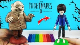 Беглец и Гость Чрева из Little Nightmares –Маленькие Кошмары 2. Лепим фигурки из пластилина с Лепка
