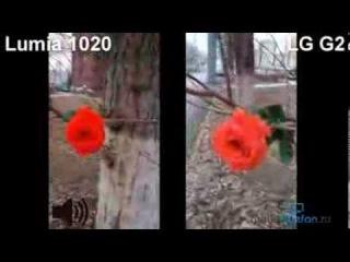 LG G2 vs Nokia Lumia 1020: сравнение видеокамер (camera comparison)