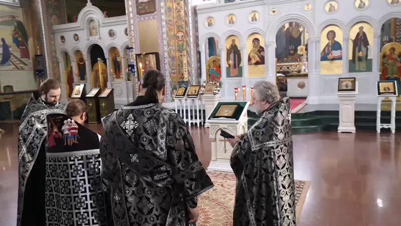 Литургия Преждеосвященных Даров во Владимирском храме Канавинского благочиния 15 апреля 2020 года