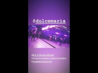 DulceMaria hoy en los ensayos para el @Billboard