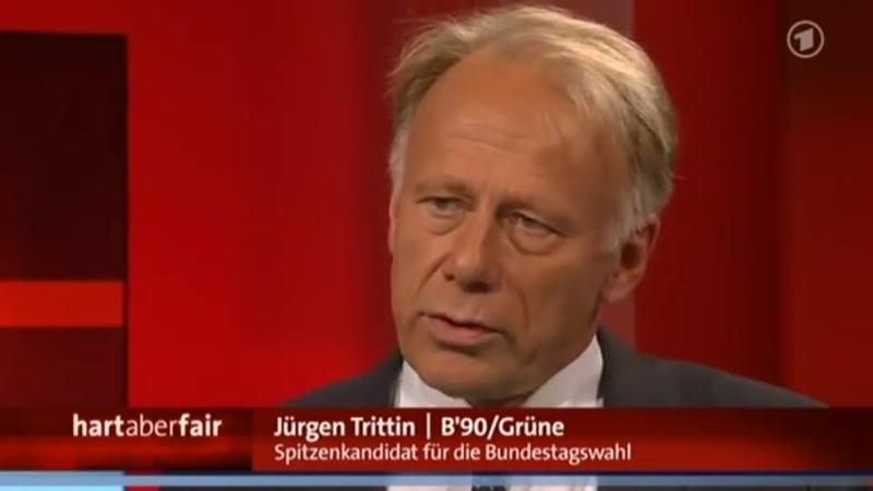 Frank Plasberg befragt Jürgen Trittin zum Thema Pädophilie hart aber fair WDR DAS ERSTE