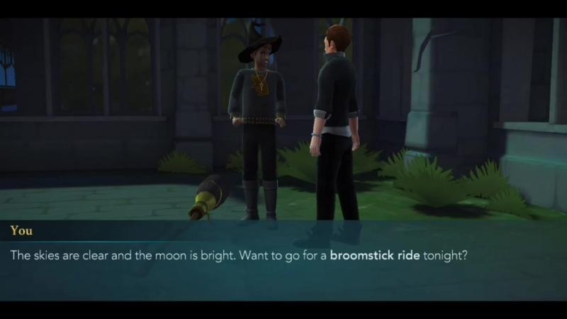 Hogwarts mystery Courtyard date