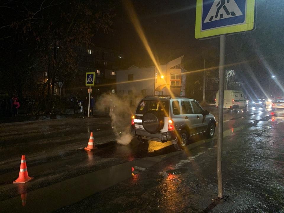 На улице Орджоникидзе в Кимрах водитель Шевроле сбил 40-летнего пешехода на пешеходном переходе