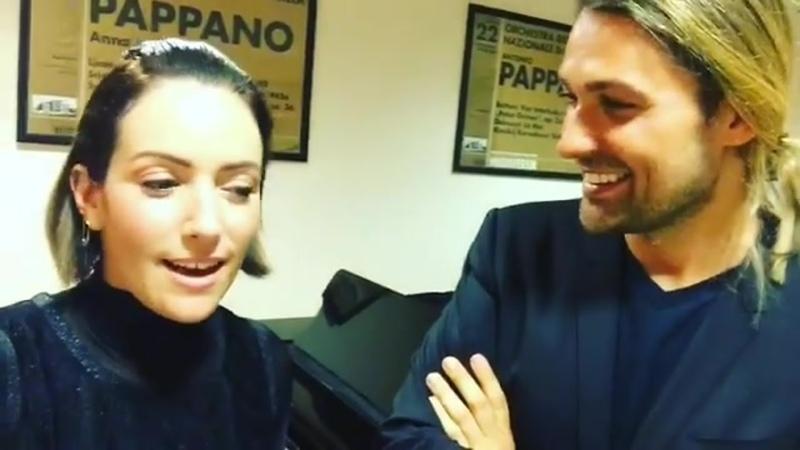 Alondra de la Parra David Garrett Greetings and chat from the dressing rooms 2016