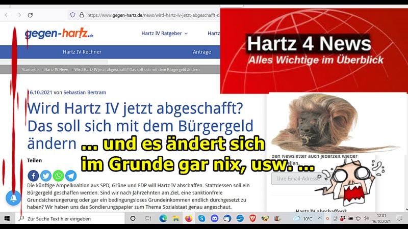 """""""Hartz IV wird zu Bürgergeld ne Komplettverarsche usw …"""
