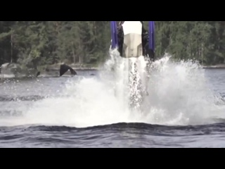 StuntFreaksTeam - Snowmobile On Water (Watercross)