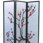 Ширма для комнаты 1035-3 Сакура (3 панели)