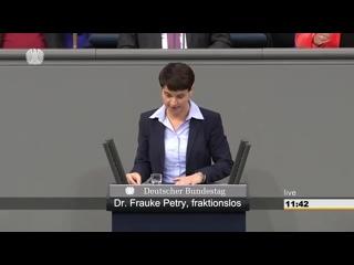 Petry- Frau Merkel- -seien Sie unbesorgt- Ohne Sie schaffen wir das--