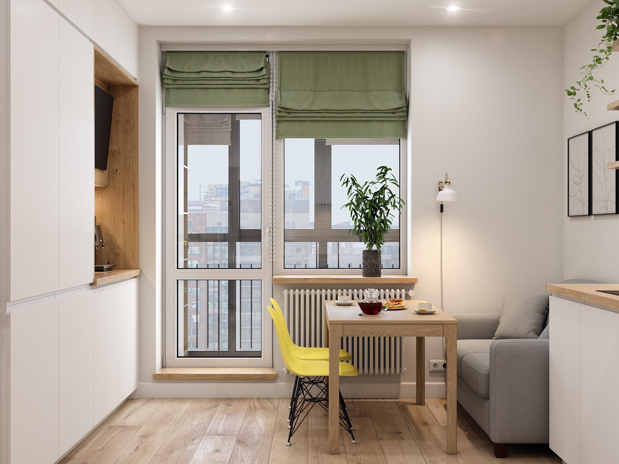 Проект однокомнатной квартиры 44 кв.