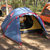 Экстремальная всесезонная 4х местная палатка TRAMP MOUNTAN-4 alu