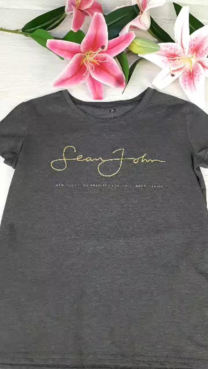 футболка серая женская