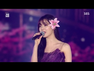 """· Perfomance · 191225 · OH MY GIRL (Seunghee) - """"Reflection"""" (Mulan OST) · SBS """"Gayo Daejeon"""" 2019 ·"""