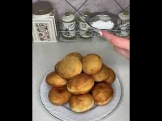 Пончики с начинкой (ингредиенты в описании видео)