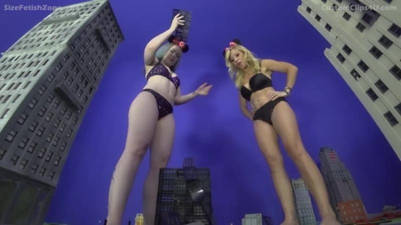 Psychotic Giantess Vixens starring Blondezilla and Vonka