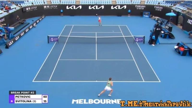 01 02 2021 Як Світоліна з перемоги над Петкович стартувала на турнірі в Мельбурні