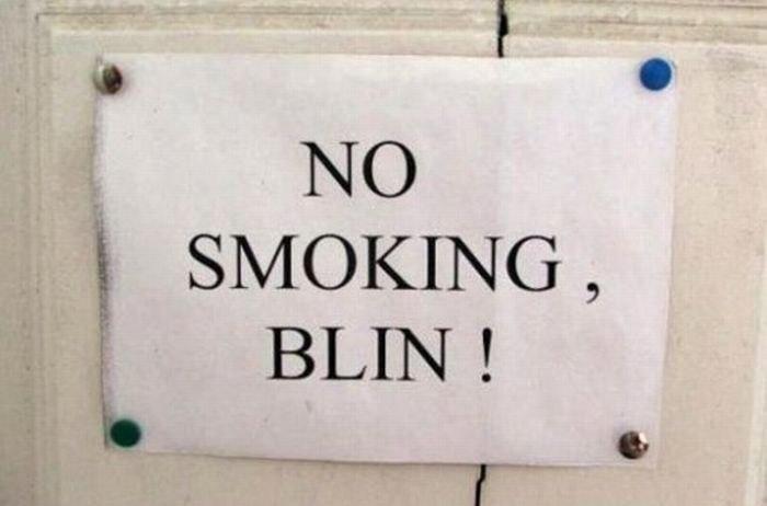 no smoking, blin