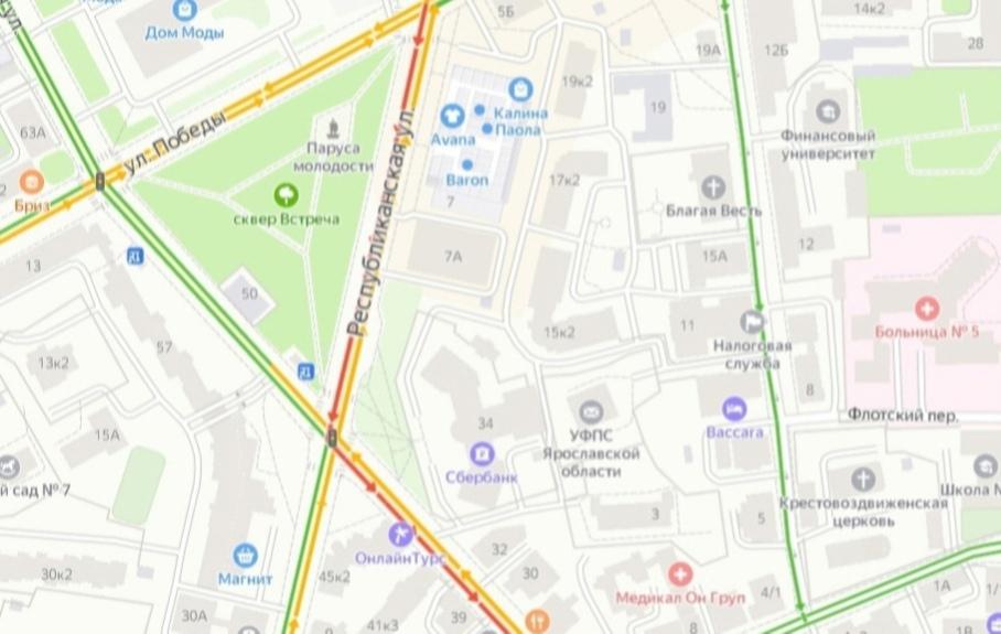 Пробки в Ярославле: где сегодня не проехать