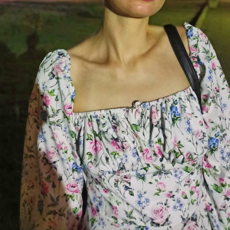 Стильное платье с цветочным принтом и квадратным вырезом! ❤ любимое платье этого лета 🥰