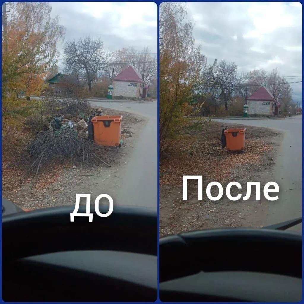 В Петровске продолжается ликвидация стихийных свалок на территориях, прилегающих к контейнерным площадкам для сбора ТБО