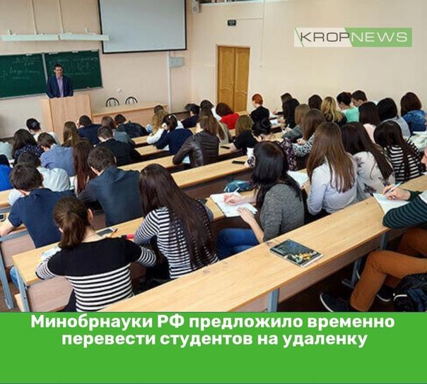Минобрнауки РФ предложило временно перевести студе...
