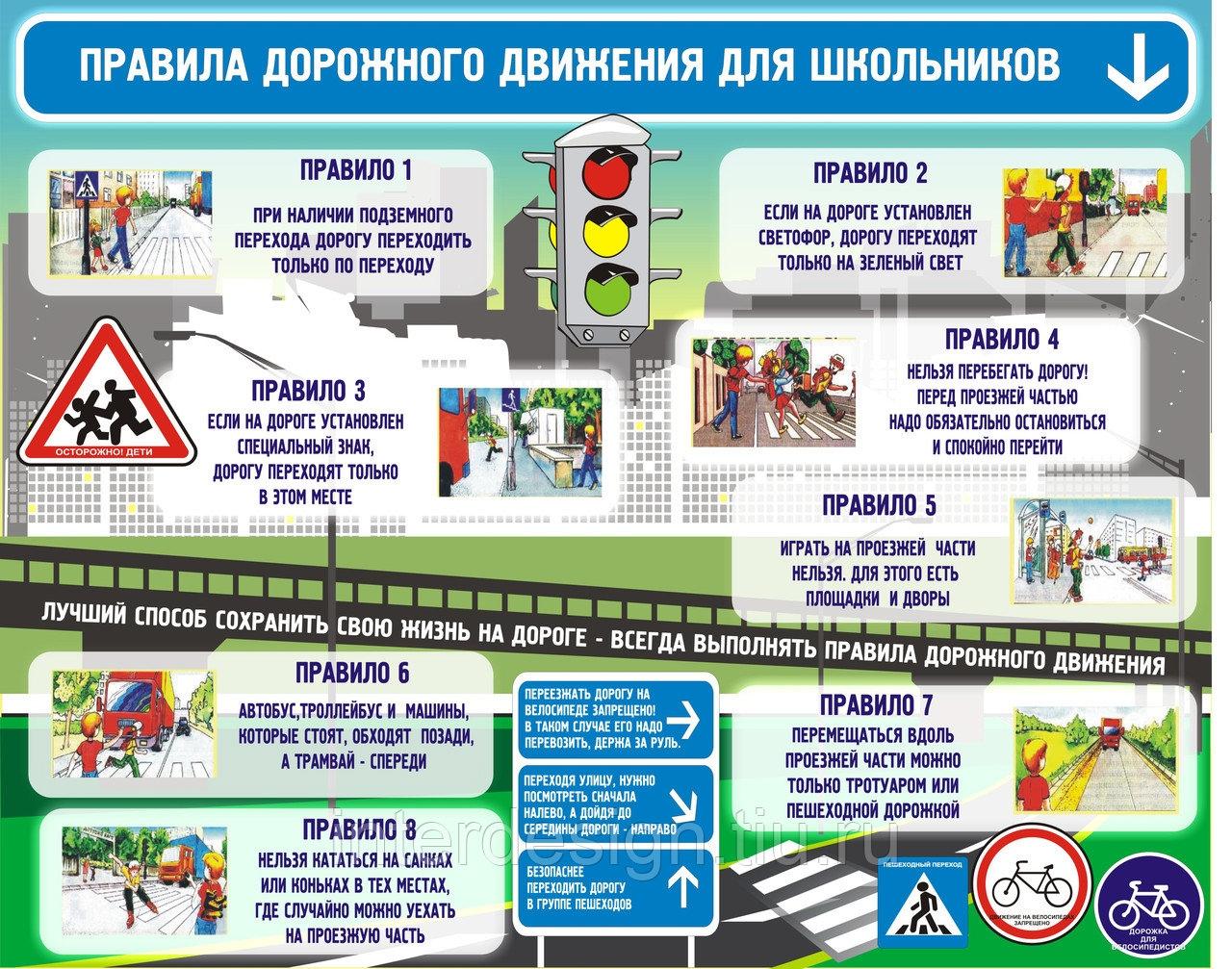 Напомните детям основные правила безопасного поведения на дороге