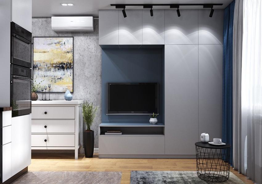 Концепт маленькой квартиры всего 17,5 кв.
