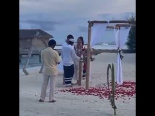 Буз и Дава поженились на Мальдивах