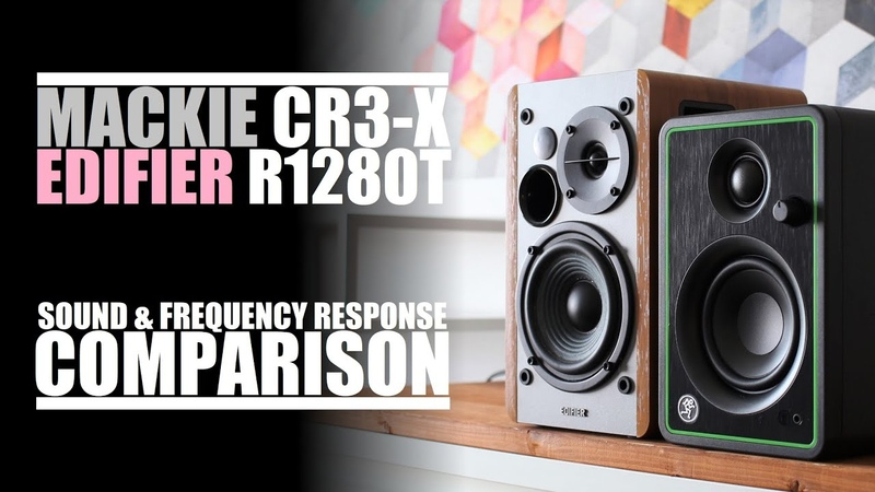 Mackie CR3-X vs Edifier R1280T    Sound, Distortion Frequency Response Comparison