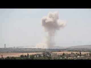 Turkish army convoy's progress halted in Syria by shelling