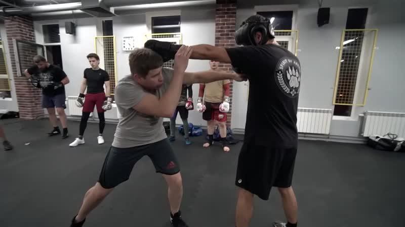 Как бить всей массой навстречу Постановка встречного удара в боксе