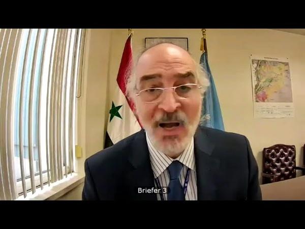 بيان السفير د بشار الجعفري في جلسة مجلس الأمن حول الشأن السياسي والإنساني المنعقدة في ٢٥ ١١ ٢٠٢٠
