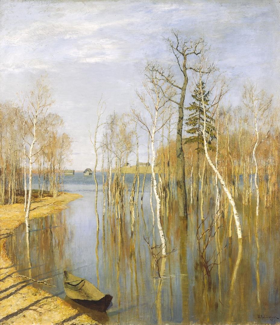 """""""Весна-большая вода"""". 1897г. ГТГ"""