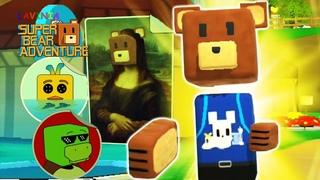 Обновление Super Bear Adventure Где спрятаны секретные Стикеры!Смешные стикеры Супер Беар Адвенчер!