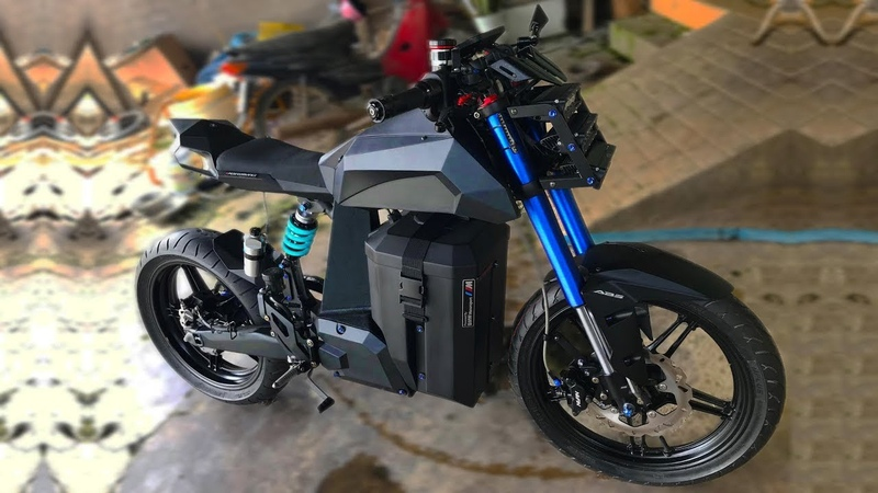 DIY Electric Motorcycle 53 mph 85 kmh
