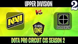 Natus Vincere vs EXTREMUM - Game 2, Group Stage - Dota Pro Circuit Spring League 2021: Season 2 Upper Division