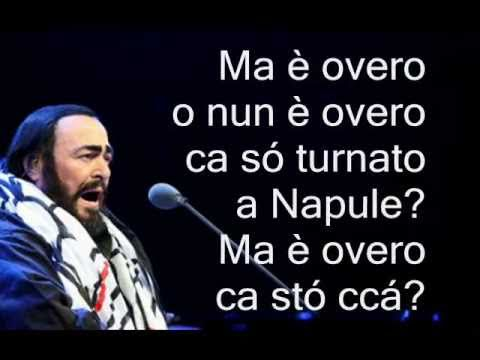 Luciano Pavarotti 'O Paese d' 'o Sole D'Annibale 1925 By Bovio