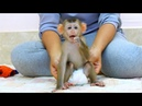 Adorable Baby Sovan Sit Obediently WELL DISCIPLINE during Mom diapering for her,