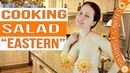 How to cook a delicious salad. Im cooking. Naturist is cooking. Naturist. Nudist. INF. Blogger