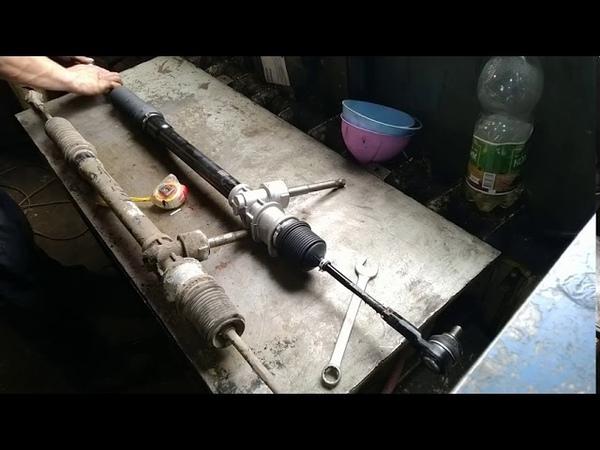 Дэу матиз замена рулевой рейки Daewoo Matiz replacing the steering rack